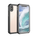 Waterproof Dustproof Shockproof Transparent Acrylic Protective Case For iPhone XS / S(Black)