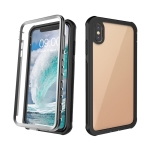 Waterproof Dustproof Shockproof Transparent Acrylic Protective Case For iPhone XS Max(Black)