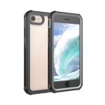 Waterproof Dustproof Shockproof Transparent Acrylic Protective Case For iPhone SE 2020 / 8 / 7(Black)