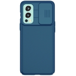 For OnePlus Nord 2 5G NILLKIN Black Mirror Series PC Camshield Full Coverage Dust-proof Scratch Resistant Phone Case(Blue)