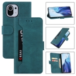 For Xiaomi Mi 11 Lite Reverse Buckle Horizontal Flip PU Leather Case with Holder & Card Slot & Wallet(Lake Blue)