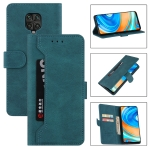 For Xiaomi Redmi Note 9 Pro Reverse Buckle Horizontal Flip PU Leather Case with Holder & Card Slot & Wallet(Lake Blue)