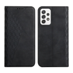 For Samsung Galaxy A52 5G / 4G Diamond Pattern Splicing Skin Feel Magnetic Horizontal Flip Leather Case with Card Slots & Holder & Wallet(Black)