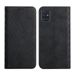 For Samsung Galaxy A71 Diamond Pattern Splicing Skin Feel Magnetic Horizontal Flip Leather Case with Card Slots & Holder & Wallet(Black)