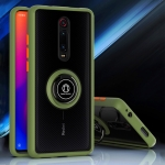 For Xiaomi Redmi K20 Q Shadow 1 Series TPU + PC Protective Case with 360 Degrees Rotate Ring Holder(Army Green+Orange)