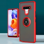 For LG Stylo 6 Q Shadow 1 Series TPU + PC Protective Case with 360 Degrees Rotate Ring Holder(Red+Black)