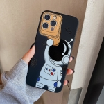 Spaceman Binoculars Shockproof Protective Case For iPhone 13(Black)