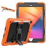 Shockproof Colorful Silica Gel + PC Protective Case with Holder & Shoulder Strap For iPad 10.2 2019 / 2020(Orange)