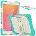 Shockproof Colorful Silica Gel + PC Protective Case with Holder & Shoulder Strap For iPad 10.2 2019 / 2020(Colorful Blue)