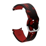 For Samsung Galaxy Watch4 / Watch4 Classic Silicone Printing Replacement Strap Watchband(Camouflage Red)