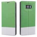 For Samsung Galaxy S8+ Cross Texture Magnetic Horizontal Flip Leather Case with Card Slots & Holder & Wallet(Green)