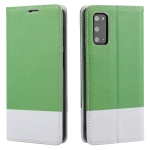 For Samsung Galaxy S20 Cross Texture Magnetic Horizontal Flip Leather Case with Card Slots & Holder & Wallet(Green)