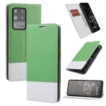 For Samsung Galaxy S20 Ultra Cross Texture Magnetic Horizontal Flip Leather Case with Card Slots & Holder & Wallet(Green)
