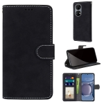 For Huawei P50 Retro Frosted Horizontal Flip PU Leather Case with Holder & Card Slots & Wallet & Photo Frame(Black)
