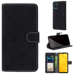 For ZTE Blade A71 Retro Frosted Horizontal Flip PU Leather Case with Holder & Card Slots & Wallet & Photo Frame(Black)