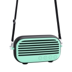 New Rixing NR-3000M Bluetooth 5.0 Portable Karaoke Wireless Bluetooth Speaker with Microphone & Shoulder Strap(Green)
