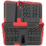 Tire Texture TPU + PC Shockproof Case with Holder For iPad mini 6(Red)