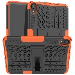 Tire Texture TPU + PC Shockproof Case with Holder For iPad mini 6(Orange)