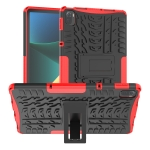 Tire Texture TPU + PC Shockproof Case with Holder For Xiaomi Pad 5 / 5 Pro(Red)