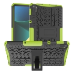 Tire Texture TPU + PC Shockproof Case with Holder For Xiaomi Pad 5 / 5 Pro(Green)