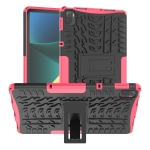 Tire Texture TPU + PC Shockproof Case with Holder For Xiaomi Pad 5 / 5 Pro(Pink)