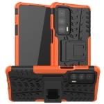 For Motorola Edge 20 Pro Tire Texture Shockproof TPU+PC Protective Case with Holder(Orange)