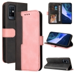 For Infinix Note 10 Business Stitching-Color Horizontal Flip PU Leather Case with Holder & Card Slots & Photo Frame(Pink)