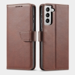 For Samsung Galaxy S21+ 5G Calf Texture Buckle Horizontal Flip Leather Case with Holder & Card Slots & Wallet(Brown)