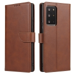 For Samsung Galaxy Note20 Ultra Calf Texture Buckle Horizontal Flip Leather Case with Holder & Card Slots & Wallet(Brown)