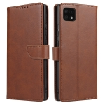 For Samsung Galaxy A22 5G Calf Texture Buckle Horizontal Flip Leather Case with Holder & Card Slots & Wallet(Brown)