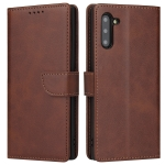 For Samsung Galaxy Note10 Calf Texture Buckle Horizontal Flip Leather Case with Holder & Card Slots & Wallet(Brown)