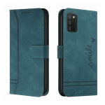 For Samsung Galaxy A02s US Version Retro Skin Feel Horizontal Flip Soft TPU + PU Leather Case with Holder & Card Slots & Photo Frame(Army Green)