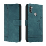 For Samsung Galaxy A11 Retro Skin Feel Horizontal Flip Soft TPU + PU Leather Case with Holder & Card Slots & Photo Frame(Army Green)