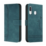 For Samsung Galaxy A40 Retro Skin Feel Horizontal Flip Soft TPU + PU Leather Case with Holder & Card Slots & Photo Frame(Army Green)