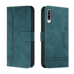 For Samsung Galaxy A50 Retro Skin Feel Horizontal Flip Soft TPU + PU Leather Case with Holder & Card Slots & Photo Frame(Army Green)