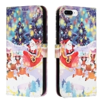 Silk Texture Christmas Painted Pattern Horizontal Flip Leather Case with Holder & Card Slots & Wallet & Photo Frame For iPhone 7 Plus / 8 Plus(Gifts Santa Claus)