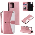 Stitching Calf Texture Horizontal Flip Leather Case with Holder & Card Slots & Wallet For iPhone 13 Pro Max(Rose Gold)