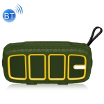 NewRixing NR-5018 Outdoor Portable Bluetooth Speaker, Support Hands-free Call / TF Card / FM / U Disk(Green+Yellow)