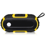 NewRixing NR-5016 Outdoor Splash-proof Water Bluetooth Speaker, Support Hands-free Call / TF Card / FM / U Disk(Yellow)