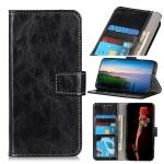 For Motorola Edge (2021) Retro Crazy Horse Texture Horizontal Flip Leather Case with Holder & Card Slots & Photo Frame & Wallet(Black)