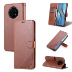 For Honor X20 AZNS Sheepskin Texture Horizontal Flip Leather Case with Holder & Card Slots & Wallet(Brown)