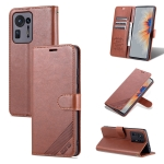For Xiaomi Mix 4 AZNS Sheepskin Texture Horizontal Flip Leather Case with Holder & Card Slots & Wallet(Brown)
