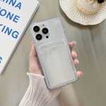 Transparent Card Slot Shockproof TPU Protective Case For iPhone 13 Pro Max