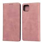 For Google Pixel 4 Calf Texture Magnetic Horizontal Flip Leather Case with Holder & Card Slots & Wallet(Rose Gold)