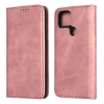 For Google Pixel 4a 5G Calf Texture Magnetic Horizontal Flip Leather Case with Holder & Card Slots & Wallet(Rose Gold)