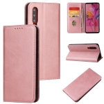 For Huawei P30 Calf Texture Magnetic Horizontal Flip Leather Case with Holder & Card Slots & Wallet(Rose Gold)