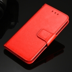For Samsung Galaxy S21 5G Crystal Texture Horizontal Flip Leather Case with Holder & Card Slots & Wallet(Red)