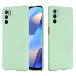 For OPPO A16 / A16S Foreign Version Solid Color Liquid Silicone Shockproof Full Coverage Protective Case(Green)