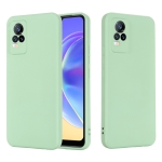 For vivo V21e 4G / Y73 2021 Solid Color Liquid Silicone Shockproof Full Coverage Protective Case(Green)