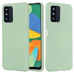 For Samsung Galaxy F52 5G Solid Color Liquid Silicone Shockproof Full Coverage Protective Case(Green)